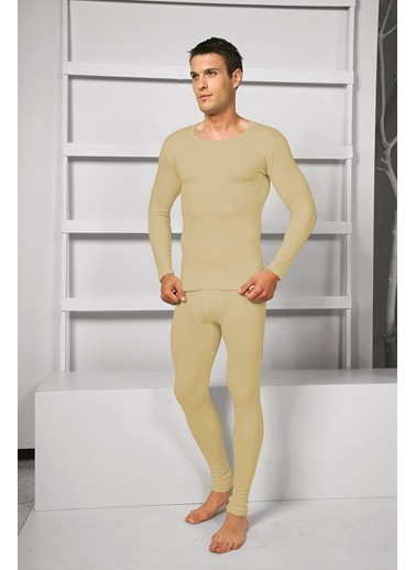 Goldenbay Erkek O-Yaka Uzun Kollu Üst Termal Sıcak Tutan İçlik Haki